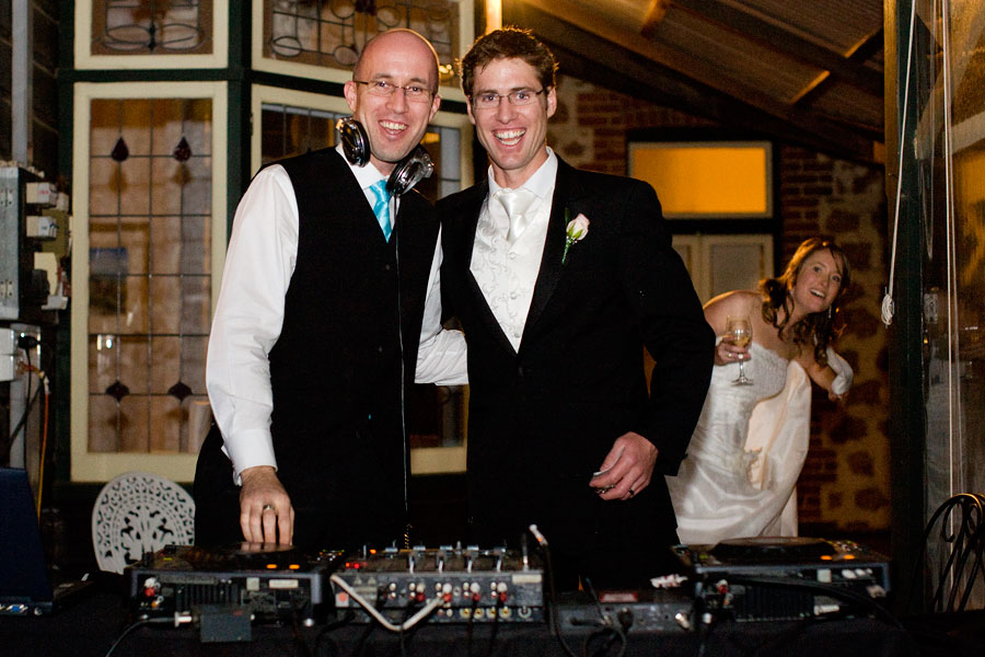 Paul the DJ with the Bride and groom