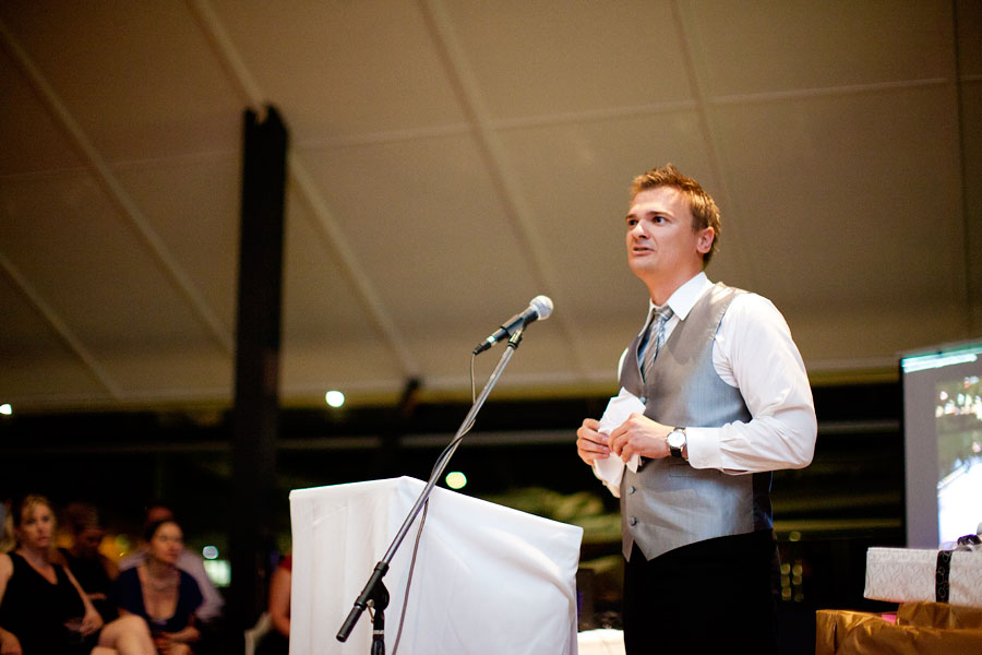 Speeches at the Wedding reception in Fremantle