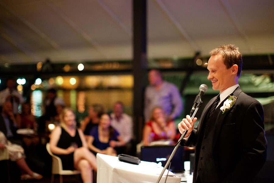 Wedding photography Speeches by the groom