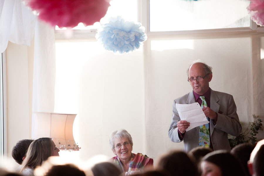 Wedding speeches at Brighton gay marriage photography