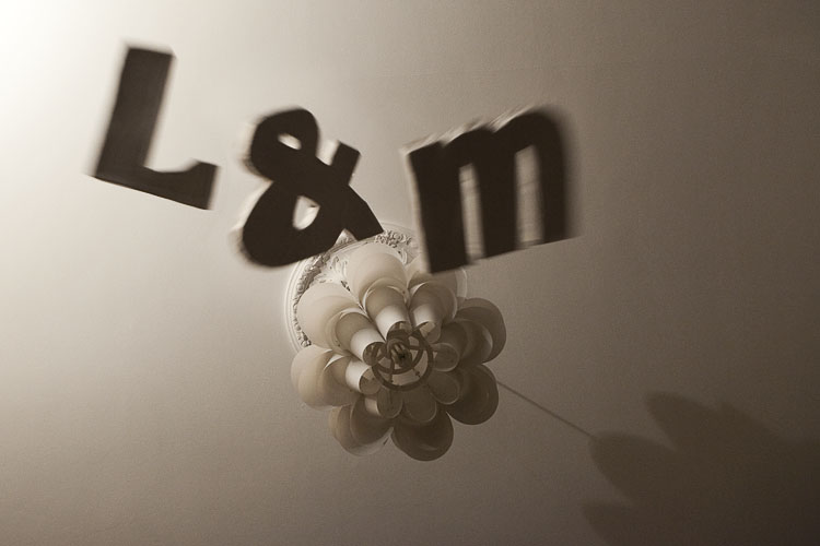 handmade typography letters in the air - a photograph taken in our brighton loungeroom