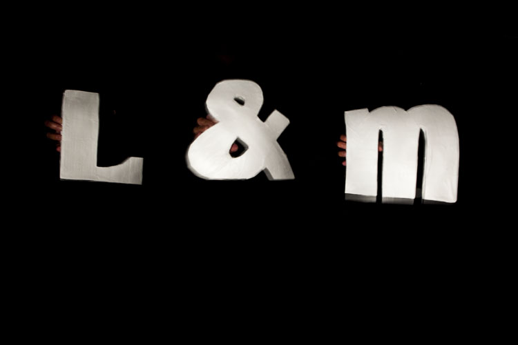 Our gift of diy letters made out of paper and paper mache