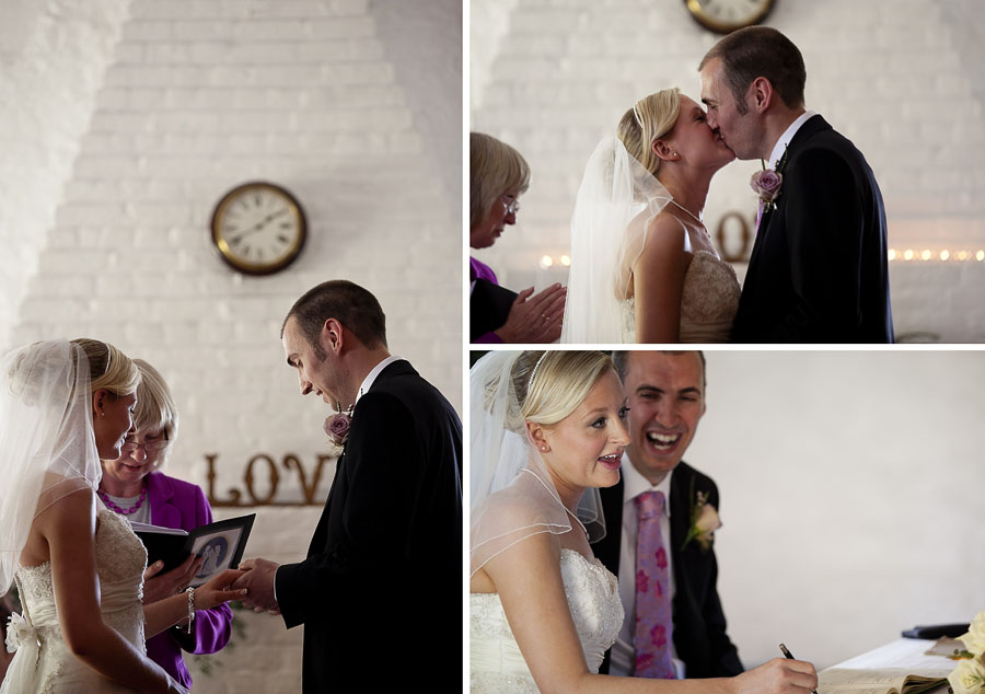 Brighton wedding photography of the Bride and groom exchanging vowels