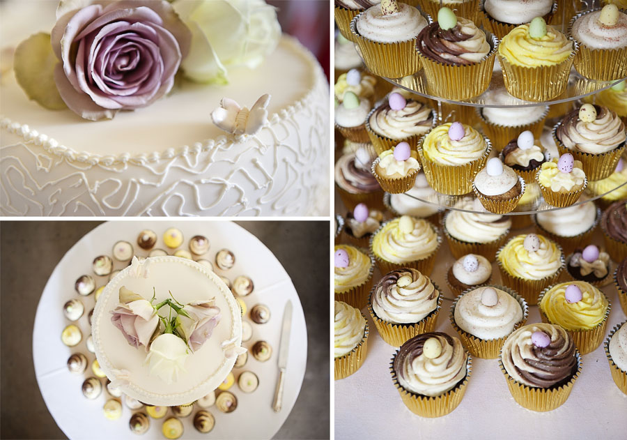 Brighton wedding photography of the wedding cupcakes and cake