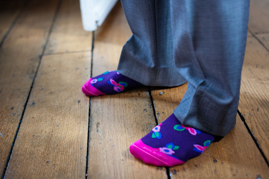 Wedding Socks Photography