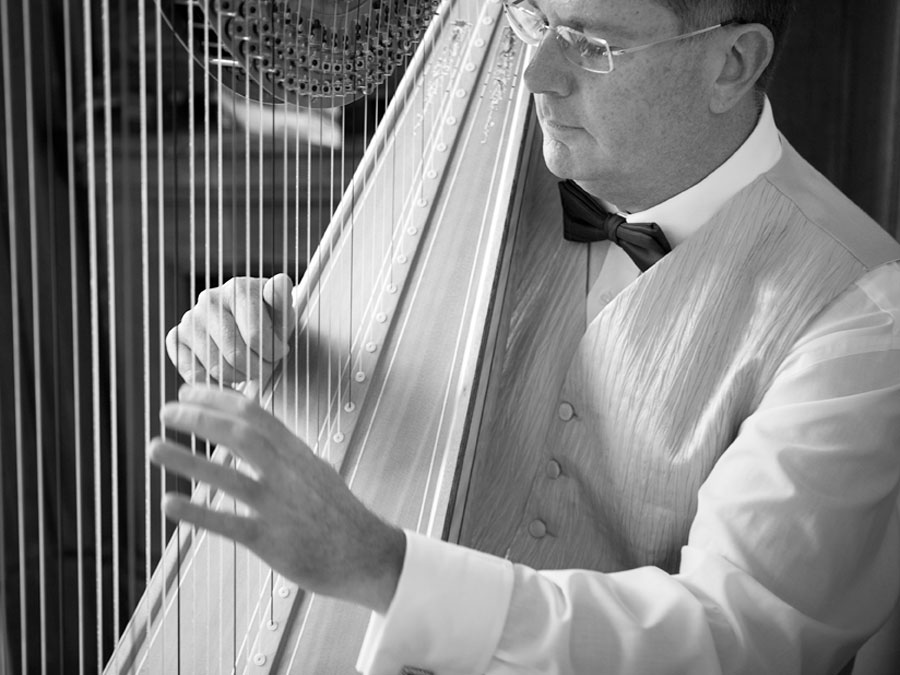 Harp Player Wedding Photography